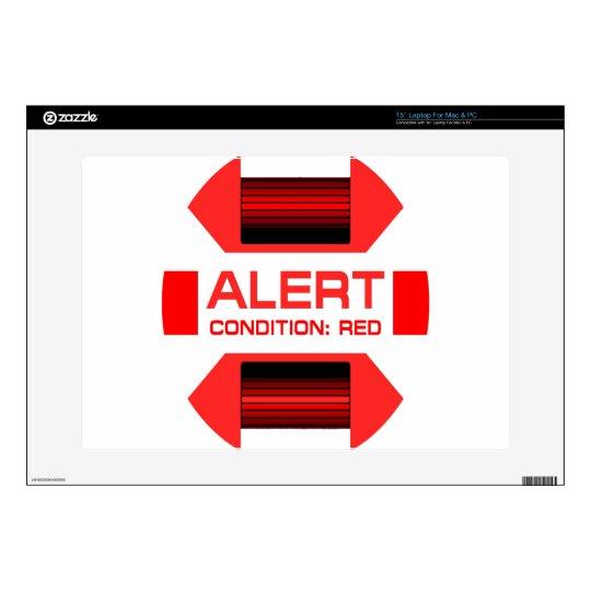 "Red Alert! 15"" Laptop Decal"