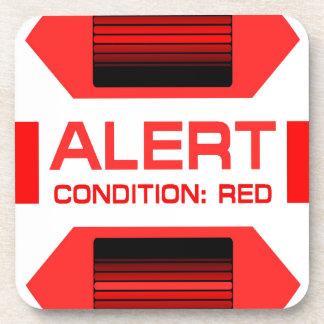 Red Alert! Beverage Coaster