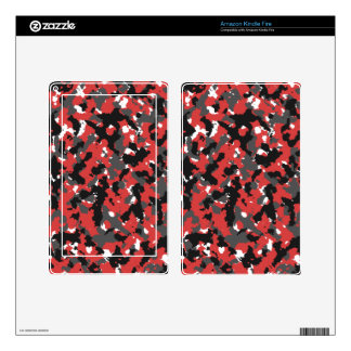 Red Alert Camo Decals For Kindle Fire