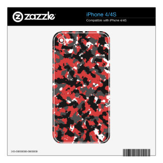 Red Alert Camo iPhone 4 Skins