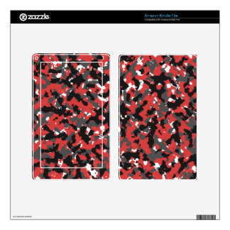 Red Alert Camo Kindle Fire Skins
