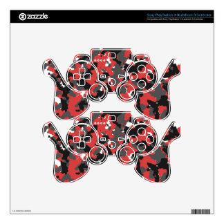 Red Alert Camo PS3 Controller Skins
