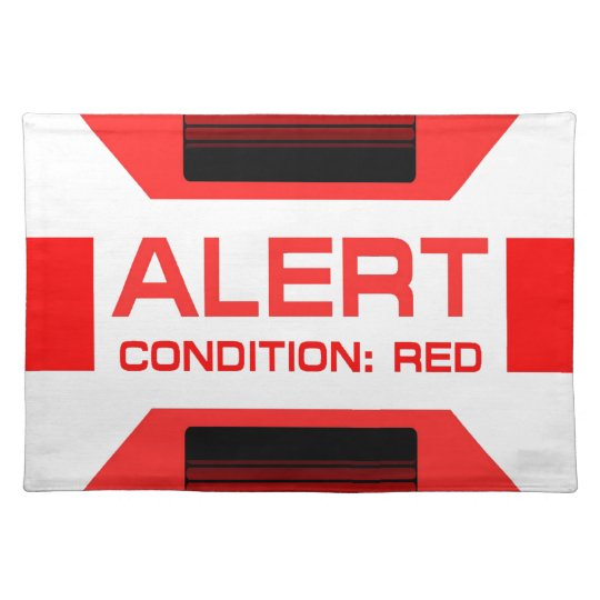 Red Alert! Cloth Placemat