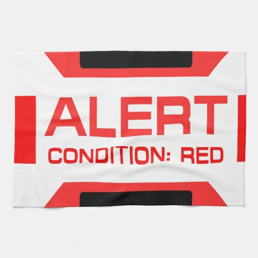 Red Alert! Hand Towels