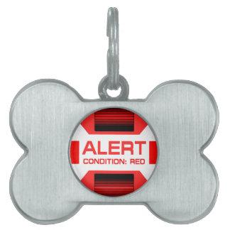 Red Alert! Pet Name Tag