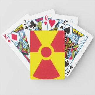 RED ALERT RADIATION WARNING! BICYCLE PLAYING CARDS