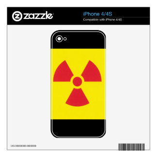 RED ALERT RADIATION WARNING! DECAL FOR THE iPhone 4S