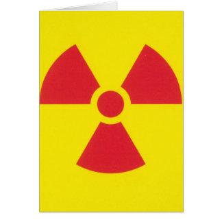 RED ALERT RADIATION WARNING! GREETING CARD