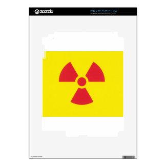 RED ALERT RADIATION WARNING! iPad 2 SKINS