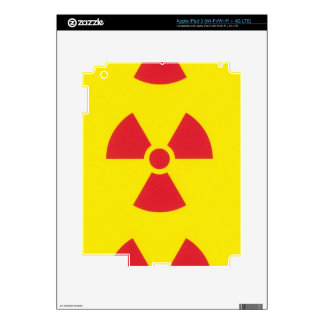 RED ALERT RADIATION WARNING! iPad 3 SKIN
