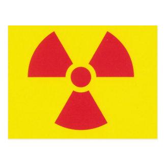 RED ALERT RADIATION WARNING! POSTCARD