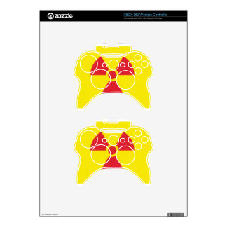 RED ALERT RADIATION WARNING! XBOX 360 CONTROLLER DECAL
