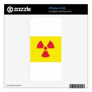 RED ALERT RADIATION WARNING! SKINS FOR iPhone 4