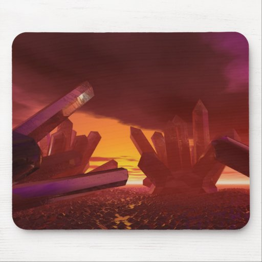 Red Alien Crystal World Mousepad
