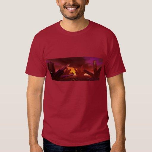 Red Alien Crystal World T-Shirt