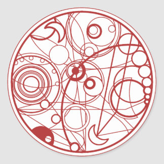 Red Alien Design Classic Round Sticker