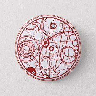 Red Alien Design Pinback Button