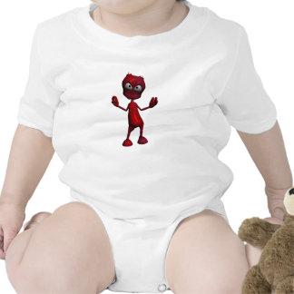 Red Alien Design Baby Bodysuits