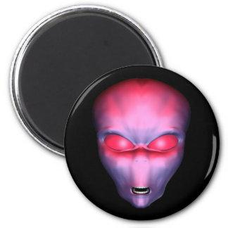 Red Alien Face Refrigerator Magnet