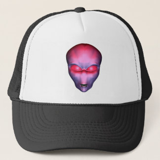 Red Alien Face Trucker Hat