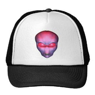 Red Alien Face Trucker Hat
