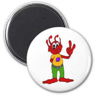 Red Alien Magnet