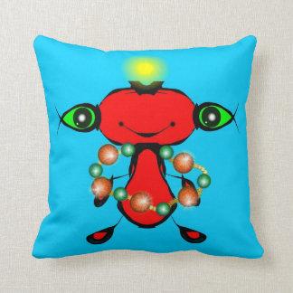 Red Alien Throw Pillow