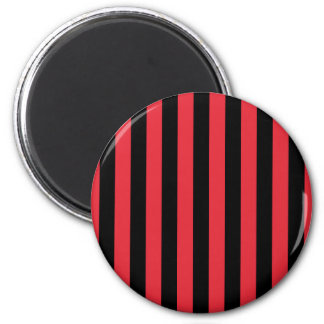 Red Alizarin Crimson and Black Stripes Magnet