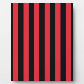 Red Alizarin Crimson and Black Stripes Plaque