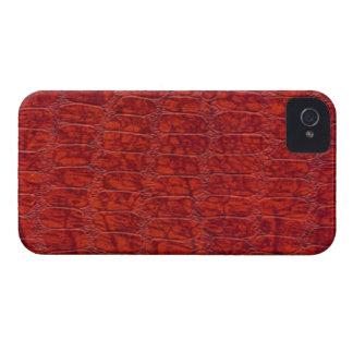 Red Alligator Print Blackberry Bold 9700/9780 iPhone 4 Case-Mate Case