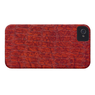 Red Alligator Print Blackberry Bold 9700/9780 iPhone 4 Cover