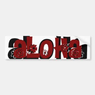 red aloha bumper sticker car bumper sticker