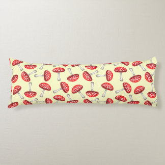 Red Amanita Fly Agaric Mushroom Body Pillow