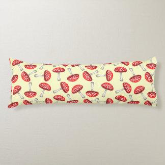 Red Amanita Fly Agaric Mushroom Body Pillow