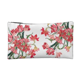 Red Amarylis Flowers Floral Vintage Bag