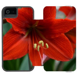 Red Amarylis Incipio Watson™ iPhone 5 Wallet Case