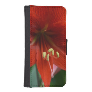 Red Amarylis Phone Wallets