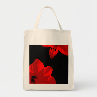 red amaryllis duo tote bag