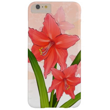 Red Amaryllis Flowers Barely There iPhone 6 Plus Case