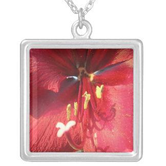 Red Amaryllis Necklace
