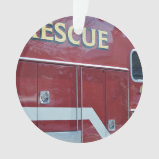 Red Ambulance Closeup