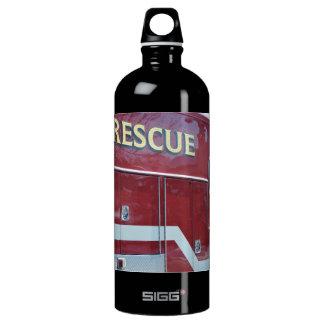 Red Ambulance Closeup Water Bottle