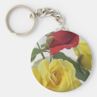 Red amd Yellow Roses Keychain