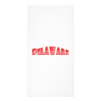 Red American Flag Delaware Photo Card