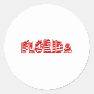 Red American Flag Florida Sticker