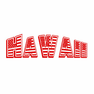Red American Flag Hawaii Photo Cut Outs