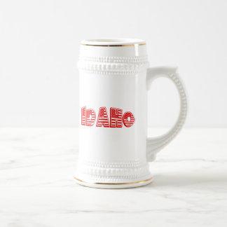 Red American Flag Idaho Beer Stein