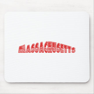Red American Flag Massachusetts Mouse Pad