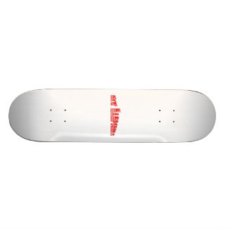 Red American Flag New Hampshire Skate Decks