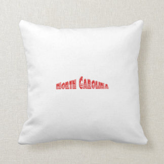 Red American Flag North Carolina Throw Pillow